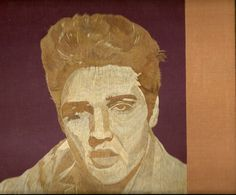 ELVIS Presly  Handmade with dried leaves of rice by museumshop, $189.00.  Star in rice straw art Hollywood star in leaf art  by museumshop on Etsy, COLLECTIBLE ART  TV Star Movie star on rice leaves.  Hollywood legend handmade with dried leaves.  Handmade leaf art  No color paint or dye added to the natural color of rice straw (Dried leaves of rice plant).  This portrait is not a Photo, Painting, Print but handmade with thousands of tiny pieces of rice straw.  COLLECTIBLE LEAF ART.