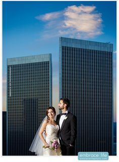 Wedding photo at our hotel's rooftop helipad. Beautiful couple!   InterContinental Los Angeles Century City at Beverly Hills