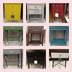 target THRESHOLD accent tables - a rainbow of possibilities!