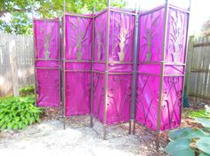 How To Make a Garden Screen For Your Shed From Reused Materials - Shawna Coronado Garden Screening, Screening Ideas, Plastic Sheds, Outdoor Projects, Outdoor Ideas, Outdoor Spaces, Pink Garden, Pink Plastic, Backyard Retreat