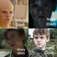Me(Died) why does Tommy have to die in his movies and tv shows that I like Maze Runner Cast, Maze Runner Movie, Maze Runner Series, Thomas Brodie Sangster, Maze Runner Characters, Hush Hush, Sad Movies, Dylan O'brien, Hunger Games