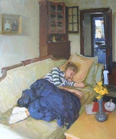 Philip Geiger - anna asleep 2002 oil on canvas 34 x 28 inches Painting People, Figure Painting, Artist Painting, Sleeping Women, Relax, Beauty Art, American Artists, Figurative Art, Love Art