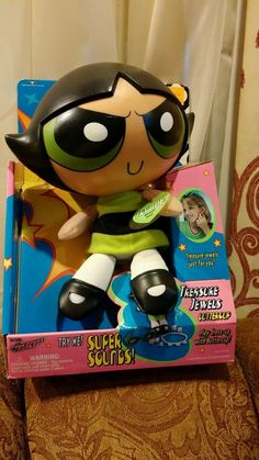POWERPUFF GIRLS BUTTERCUP 2000 MIB TOY DOLL TALKING TRENDMASTERS MINT IN BOX!!! #Trendmasters