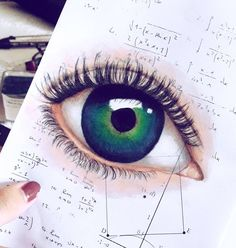 """Mi piace"": 100, commenti: 6 - Catherine Ciminà (@cathillustration) su Instagram: ""'An eye for an #eye only ends up making the whole world #blind.' Pencil drawing on #Maths notes().…"""