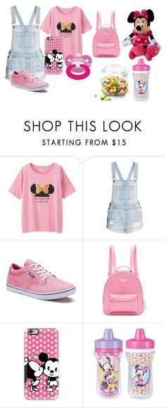 """""""Little Me (DD/lg)"""" by keona-merry ❤ liked on Polyvore featuring Uniqlo, H&M, Vans, Disney, Versace, Casetify, The First Years and Dot & Bo"""