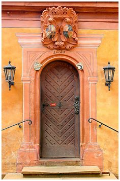 ♅ Detailed Doors to Drool Over ♅ art photographs of door knockers, hardware & portals - Mespelbrunn, Bavaria, Germany