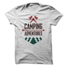 Camping Adventures camping t shirt for men #camping #camper #Adventures