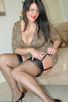 Belt black garter mature woman