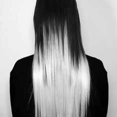 long pretty straight hair with color