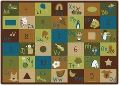 cool Carpets for Kids 37700 Learning Blocks Nature Rug