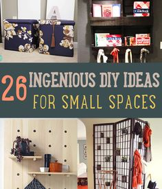 Living in a small home or apartment? If you need some storage ideas or home decorating ideas, this list will help you out. Maximize small spaces with a DIY!