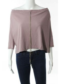 MARNI-Light-Purple-Cotton-Scoop-Neck-Drawstring-Detail-Long-Sleeve-Top-Sz-IT-40