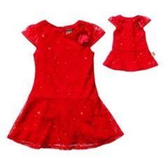Dollie & Me Lace Dress Set - Girls 7-16