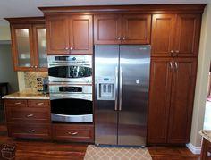 Custom Euro & face frame maple wood #Cabinets