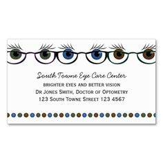 Super Optometrist Business Card Templates Make Your Own Business