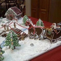 Honorable Mention: Over the River and Through the Woods | 2009 Gingerbread House Contest Winners | Photos | Home & Real Estate | Money | This Old House
