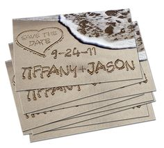 Cute idea for save the date cards.