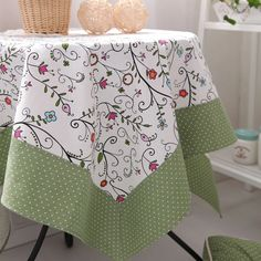 Quality Fairy summer bordered cotton table cloth small fresh rustic tablecloth sweet dining table cloth gremial with free worldwide shipping on AliExpress Mobile Dining Table Cloth, Table Linens, Mantel Redondo, Asian Quilts, Oblong Tablecloth, Design Textile, Lace Table, Quilted Table Runners, Clothes Crafts