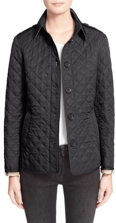 Burberry Brit 'Ashurst' Quilted Jacket