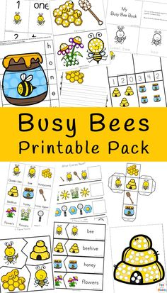 Bumble Bees Activities Fun bumble bees activities including coloring pages, puzzles, clip cards and Insect Activities, Kindergarten Activities, Activities For Kids, Childcare Activities, Bees For Kids, Bee Crafts For Kids, Bee Games, Bee Book, Bumble Bees