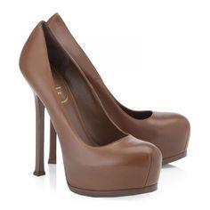 Yves Saint Laurent Tribtoo Nappa leather high heel pumps