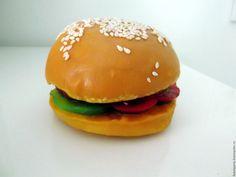 """""""Hamburger"""" soap / Купить Мыло 3D """"Гамбургер"""" - бежевый, гамбургер, прикольный подарок, прикол, вкусное мыло, вкусняшки"""