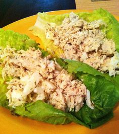 taylor made: 17 day diet chicken & egg salad lettuce wraps More