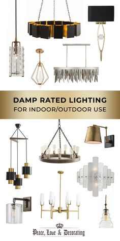 Arteriors Home Damp Rated Lighting Interior And Exterior, Interior Design, Contemporary Style, Modern, Balconies, Garages, Porches, Indoor Outdoor, Bathrooms