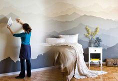 DIY Craft Projects for Wall Art - Mountain Mural Wall Art