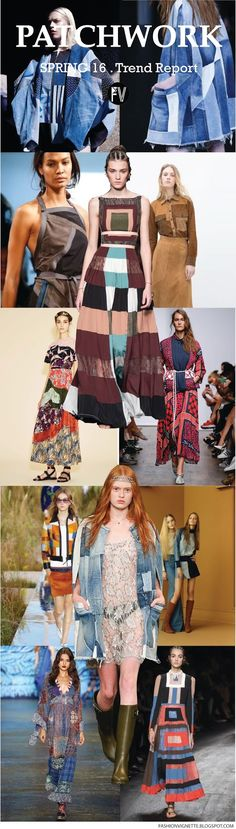 FASHION VIGNETTE: [ TREND REPORT ] PATCHWORK - SPRING 2016