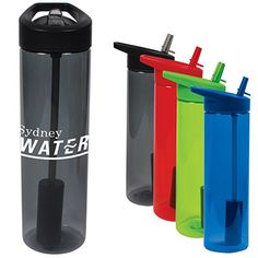 20 Ounce Capacity     Convenient Flip Straw     Constructed From BPA Free Shatter Resistant MS Plastic     Carbon Filter Lasts Three Months Or 155L     Filter Designed To Work With Cold Beverages Only     Replacement Filters Are Available     Available In Four Unique Translucent Colors     Do Not Microwave     Bottle (Excluding Filter) Is Dishwasher Safe