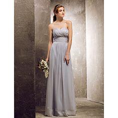 Sheath/Column Sweetheart Floor-length Chiffon Bridesmaid Dress (722114) – GBP £ 62.42