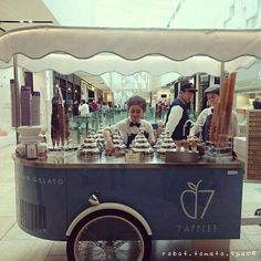 Rated 3.3/5. Located in CBD, Melbourne. Known for Artisan gelato served from a beautiful vintage gelato cart. Cost