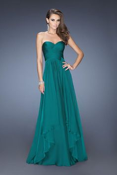 Concise 2014 Sweetheart Ruffled Bodice A Line Floor Length Chiffon Dark Royal Blue