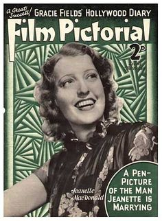 """Jeanette MacDonald on cover of """"Film Pictorial,"""" 1937."""