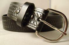 Black Basket Weave Rodeo Belt