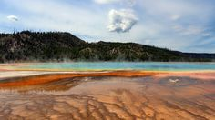The Most Beautiful Place in Each State - WYOMING, GRAND PRISMATIC SPRING, YELLOWSTONE NATIONAL PARK