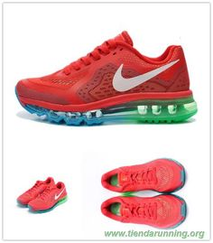 online store c48c8 ad630 621078-600 Legion Rojo Blanco Verde Nike Air Max 2014 outlet zapatos online