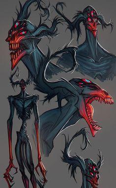 Monster Concept Art, Fantasy Monster, Monster Art, Tree Monster, Fantasy Character Design, Character Design Inspiration, Character Art, Alien Character, Creature Concept Art