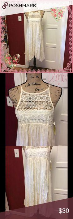 ⚡️sale⚡️NWT soooo cute cream dress 👗 So stinking cute cream ivory color rebellion Dresses Asymmetrical