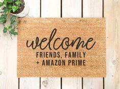 Funny Welcome Mat, Welcome Door Mats, Welcome Decor, Amazon Delivery, Primed Doors, Funny Bathroom Decor, Front Door Mats, Coffee Bar Signs, Funny Doormats