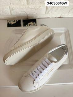 Ysl Saint Laurent woman white leather sneakers Saint Laurent Shoes, Ysl, Leather Sneakers, Front Row, White Leather, Louis Vuitton, Woman, Fashion, Moda