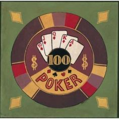Poker - I00 Canvas Art - Gregory Gorham (24 x 24)