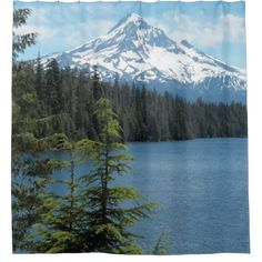 Scenic Mount Hood Photo Shower Curtain - home gifts ideas decor special unique custom individual customized individualized