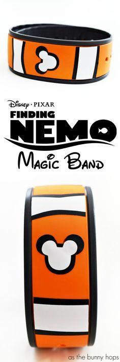 Just keep swimming along at Walt Disney World with an adorable DIY Finding Nemo Magic Band!
