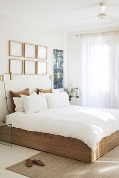 Byron fashion designer's luxe minimalist home – The Interiors Addict – Bedroom Inspirations White Home Decor, Cheap Home Decor, Decorations For Home, White House Interior, Wood Home Decor, Home Decoration, Home Decor Bedroom, Bedroom Furniture, Decor Room