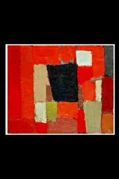 """Nicolas De Staël - """"Rouge et noir"""", 1950 - Huile sur Toile - 60 x 73 cm (*)"""