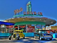 cars, diner, drive-in,