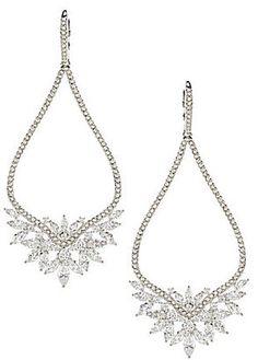 Nadri Mandala Crystal Drop Earrings bride wedding jewelry