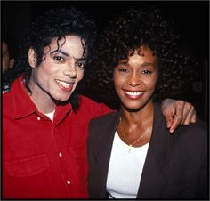 What a great photo of Michael and Whitney, two great artists gone too soon...